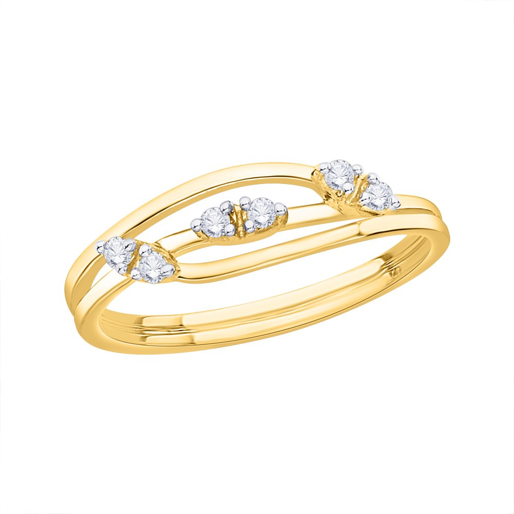 1//10 cttw, G-H,I2-I3 Size-9.75 Diamond Wedding Band in 14K Yellow Gold