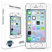 Tech Armor - Protector de pantalla para iPhone 5s/5c/5, Vidrio Balístico