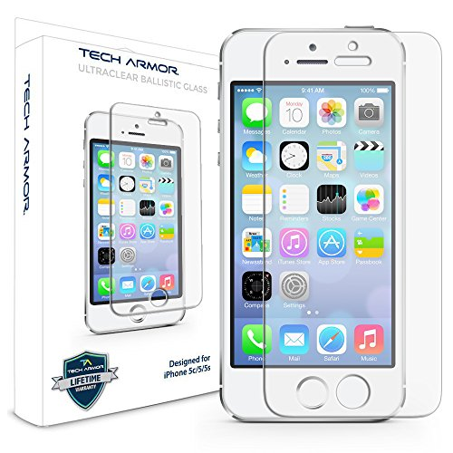 Tech Armor SP-BG-APL-IP5-1 Premium Ballistic Glass Apple iPhone - Iphone 5s Screen Protector Glass