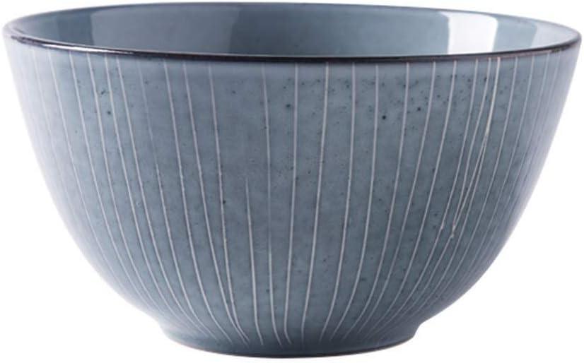 Ciotola in ceramica Ciotola, Creatività Giapponese Stoviglie Piatti for la casa Ciotole Zuppa Insalatiera Grande ciotola Qing Xuan 14,7 * 8,2 cm (Color : 14.7 * 8.2cm) 20.5*11.3cm