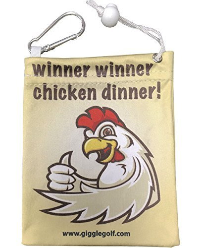 Giggleゴルフ – マイクロファイバーWinner Winner Chicken Dinnerティーバッグ   B0762D1FQN