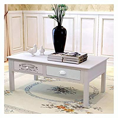 HomyDelight Coffee Table, French Coffee Table Wood