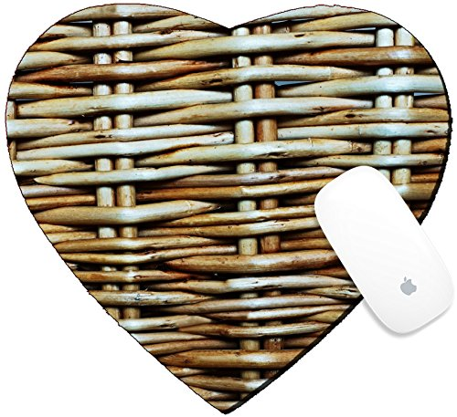 Luxlady Mousepad Heart Shaped Mouse Pads/Mat design IMAGE ID: 23138891 Abstract background from a wattle fence fence or protection fragment texture of a wattled wall from a