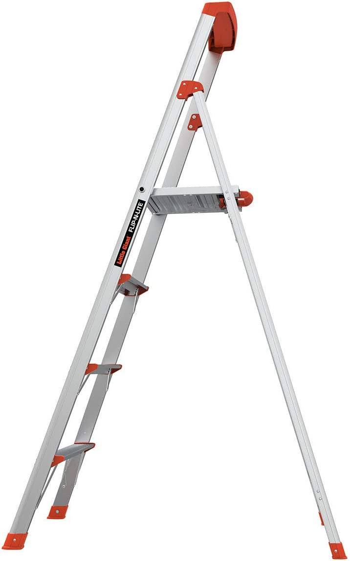 Little Giant Ladders Flip N Lite 6 Foot Stepladder Aluminum Type 1a 300 Lbs Rated 15270 001 Amazon Co Uk Diy Tools