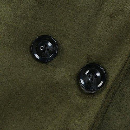 Aurorax Women Fashion Loose Lambswool Winter Warm Long Sleeve Warm Thick Jacket Long Coat Outwear (Green, XL) by auroraX (Image #1)