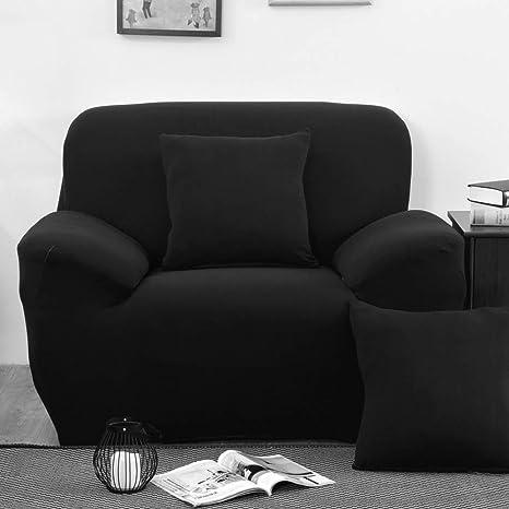 Miraculous Inmozata Armchair Covers 1 Piece Polyester Spandex Elastic Armchair Slipcovers Protector Washable Black Inzonedesignstudio Interior Chair Design Inzonedesignstudiocom