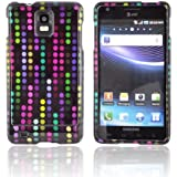 [Talon] Rainbow Falling Dots on Black Samsung Infuse i997 Plastic Case Cover [Anti Slip] Supports Premium High Definition Anti-Scratch Screen Protector; Durable Fashion Snap on Hard Case; Coolest Ultra Slim Case Cover for Infuse i997 Supports Samsung i997 Devices From Verizon, AT&T, Sprint, and T-Mobile