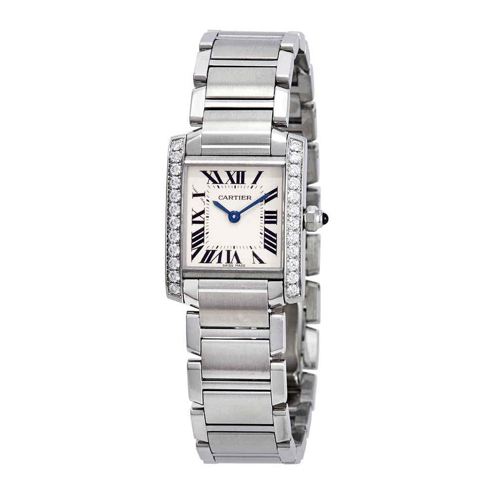 40698ab2aa9c4 Amazon.com  Cartier Tank Francaise Silver Dial Ladies Watch W4TA0008   Watches