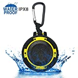 ZeroLemon ToughSound Portable Wireless Bluetooth Speaker IPX8 Waterproof & Shockproof with Bicycle Bracket and Suction Cup for Shower, Bike, Beach, Party and More