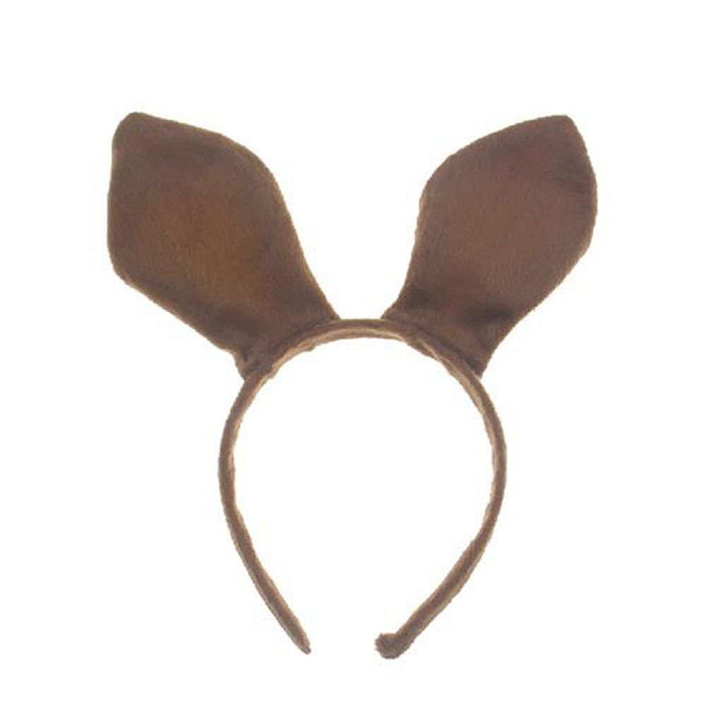 Amazon.com: Pagreberya Brown Bunny Ears Headband Handmade Plush ...
