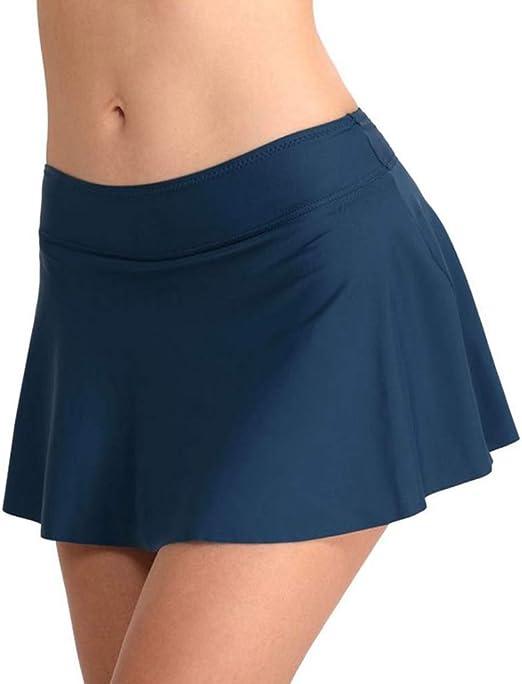 vap26 - Falda de Bikini para Mujer (Cintura Media, con elástico ...