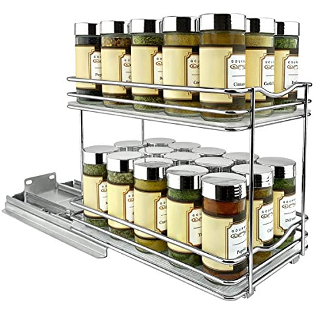 Sliding Spice Rack: Lynk Professional 430622DS Slide Out Double Spice Rack