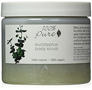 100% Pure: All Natural and Organic, Body Scrub - Eucalyptus, 16 oz