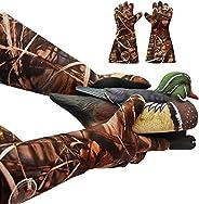 Decoy Gloves Waterproof – Elbow Length Duck Hunting Decoy Gloves Neoprene – Textured Grip – Insulated Waterpro