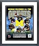 Michigan Wolverines 11 Time NCAA Football National Champions Photo (Size: 12.5'' x 15.5'') Framed