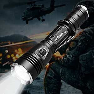 12. ORCATORCH T20 980 Lumens Compact Police Tactical Flashlight