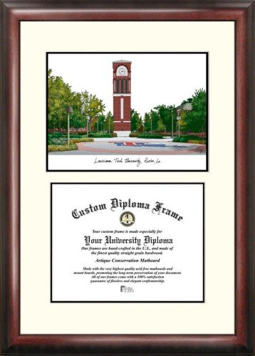 Louisiana Tech University Scholar Framed Lithograph with (Tech University Framed Lithograph)