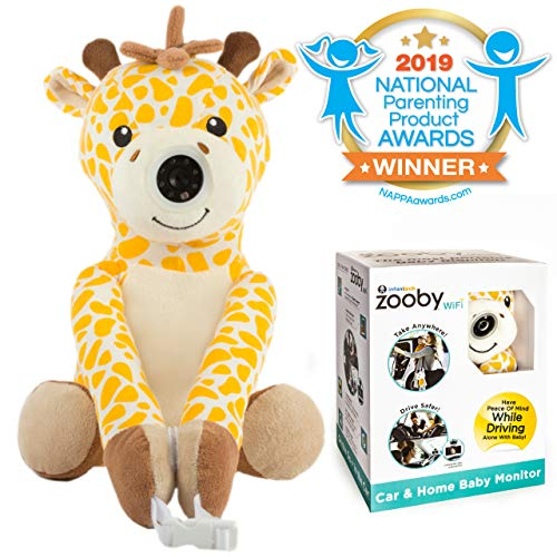 Zooby WiFi Direct Portable Video Baby Monitor - The Only Truly Mobile Baby Camera for Home, Car, Backyard, Mom Invented for Total Peace of Mind Because Baby is Always in View, Giraffe