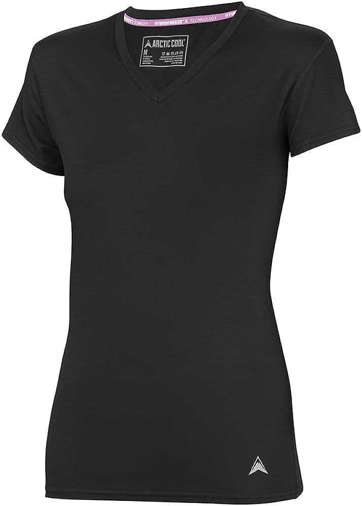 Arctic Cool Women's Instant Cooling Short Sleeve V-Neck Shirt