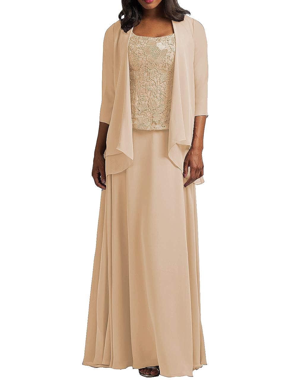 Amazon.com: Vestido de gasa para la madre de la novia con ...