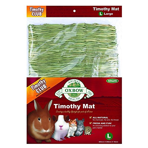 Oxbow Animal Health Timothy Club Timothy Mat for Pets, Large (Large Grass Mats)