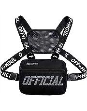 Universal Molle Hands Free Chest Bag Utility Rig Walkie Talkie Harness Pocket Pack Radio Holster Holder for Men Women (black2)