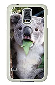 White Fashion Case for Samsung Galaxy S5,PC Case Cover for Samsung Galaxy S5 with Cute Koala