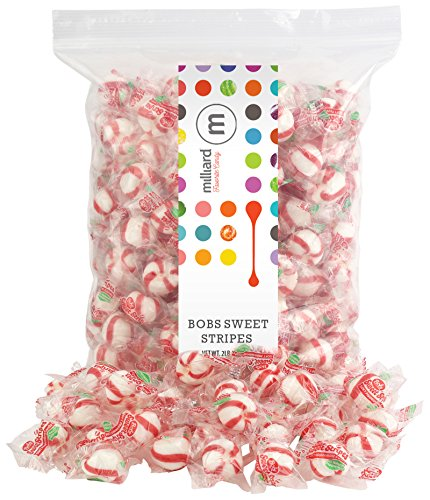 (Bobs Sweet Stripes - Wrapped - 2 Lb.- Bulk Candy - Resealable Bag)