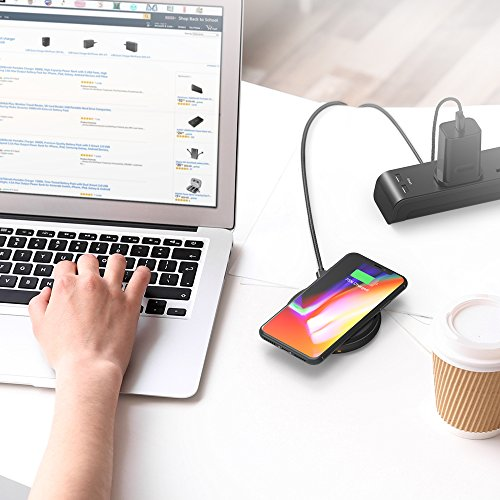 Fast Wireless Charger RAVPower 7.5W Compatible iPhone Xs MAX/XR/XS/X/8/8 Plus, with HyperAir, 10W Compatible Galaxy S9, S9+, S8, S7 & Note 8 and All Qi-enabled Devices (QC 3.0 Adapter Included) by RAVPower (Image #9)