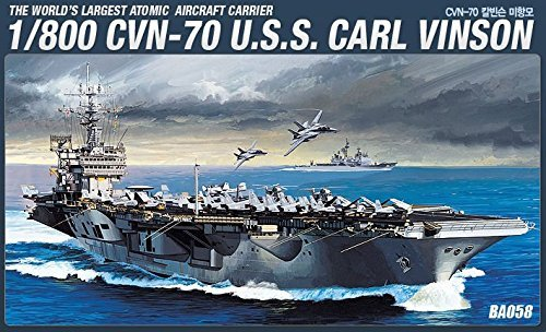 - Academy 14209 CVN-70 U.S.S.CARL VINSON 1/800 Aircraft Carrier Plastic Model Kit /item# G4W8B-48Q13254