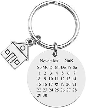 Zysta Personalized Gravur Edelstahl Kalender Schöner Tag Schlüsselanhänger Mit Zimmer Anhänger Personalisierte Geschenke Koffer Rucksäcke Taschen
