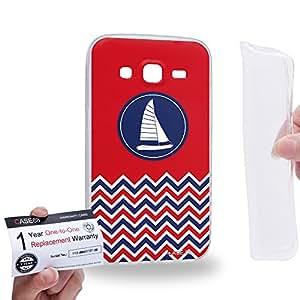 Case88 [Samsung Galaxy Core Prime G360] Gel TPU Carcasa/Funda & Tarjeta de garantía - Art Nautical Prints Boat Nautical Symbols 1623