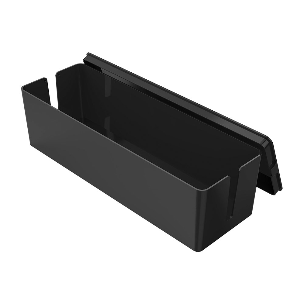QICENT Cable Management Box 12.7 X 3.8 X 3.6 inches Electronics Organizer Box for Desk & TV & Computer Power Strips, Surge Protector, TV Computer Cable, USB Hub and More by QICENT (Image #1)