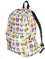 Emoji smile printing school bag