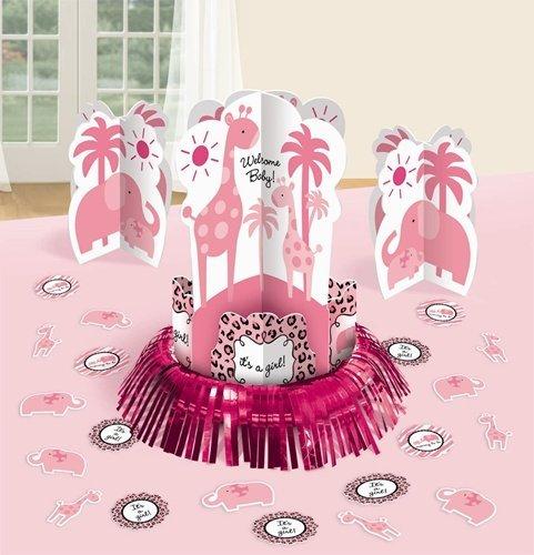 (Pink Sweet Safari Table Decorating)