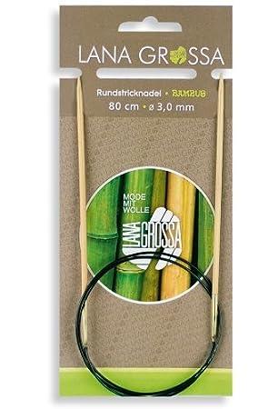 Rundstricknadel Bambus Wolle Kreativ Lana Grossa 80 cm//3,0 mm