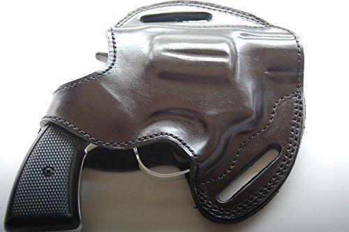 cal38 Leather Handcrafted Belt Holster for Colt Detective 38 Special Black (R.H)