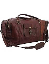 handmadecraft magic Reaction Colombian Leather 24 Duffel Bag-Carry-On Luggage travel bag