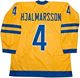 Team Sweden Niklas Hjalmarsson Yellow Hockey Jersey (52 (XL))