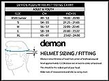 Demon United Podium Full Face Helmet Black/Lrg