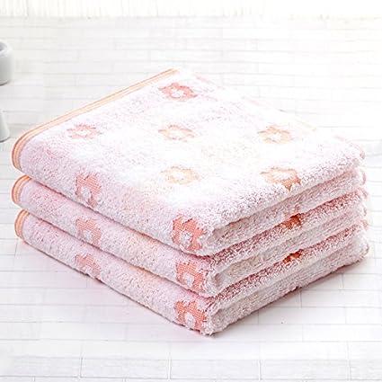 Mano towel-flower Cute cuadrado manopla de algodón absorbente Lavar Cara Lady adultos toalla rosa