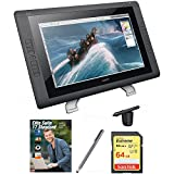 Wacom Cintiq 22HD 22'' HD, wide-format Interactive Pen Display w/Grip Pen DTK2200 + Corel Elite Suite 17 Standard Software Bundle + Bamboo Solo Stylus F/Tablets, Smartphones + 64GB Memory Card
