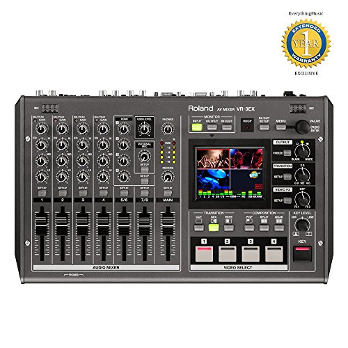Roland VR-3EX 4-channel SD Performance Audio Video A/V Mixer with 1 Year Free Extended Warranty