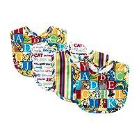 Trend Lab Dr. Seuss Alphabet Seuss Bouquet Bib Set, 4 Count