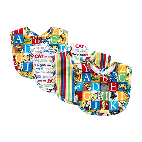 - Trend Lab Dr. Seuss Alphabet Seuss Bouquet Bib Set, 4 Count