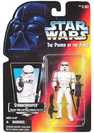 1995 Hasbro Star Wars Stormtrooper with Blaster Rifle and Heavy Infantry Cannon (Blaster Heavy)