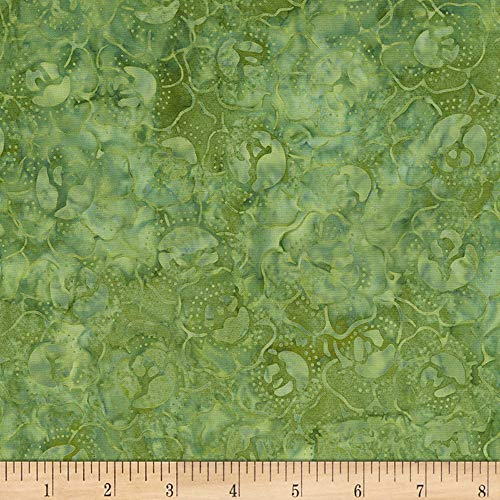 (Timeless Treasures 106'' Batik Wide Back Cabbage Patch Fabric, Green, Fabric By The)
