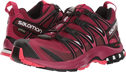 Salomon Women's XA PRO 3D GTX Beet Red/Sangria/Black Athletic Shoe by Salomon
