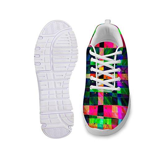 Kramar Idé Ljusa Färg Kvinna Mode Casual Kör Sneakers Nr 6