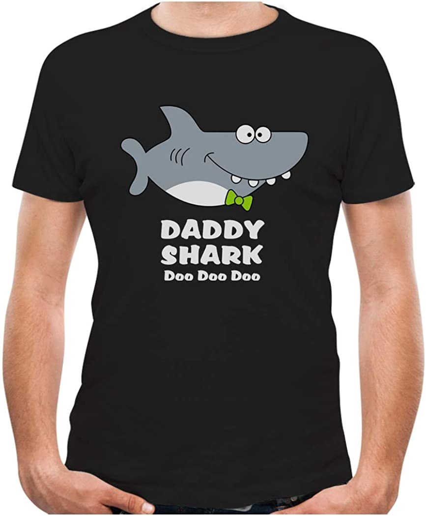 Daddy Shark Doo doo doo Shirt Fathers Day Men's T-Shirt